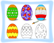 Easter Eggs Coloring Game