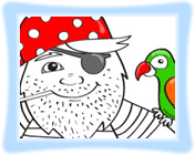 Pirate Coloring Game